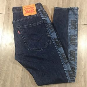 Levi's RARE Drawstring Jeans w/Logo Stripe on Legs